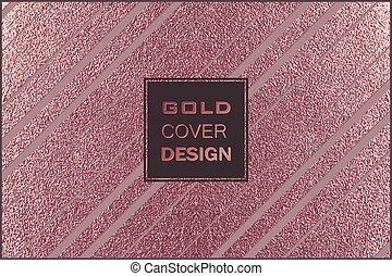 koppar, nymodig, metall, metallisk, bakgrund., glatt, stilig, design., texture., brons, minimal