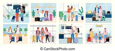 koppelt samen, het reizen, gezin, mensen