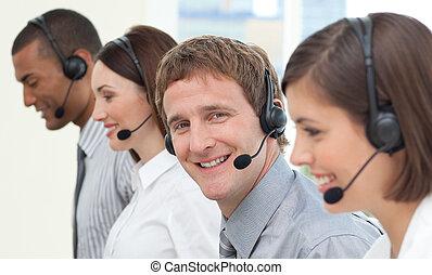 koptelefoon, zakenlui