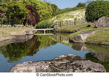 Korakuen is the famous traditional Japanese landscape garden...