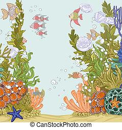 koralikowa rafa, ilustracja