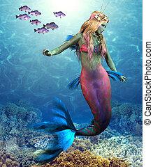 koralikowa rafa, syrena