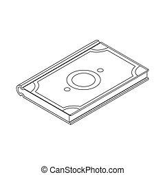 Koran icon isometric 3d