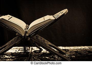 koran, książka, -, święty, muslims