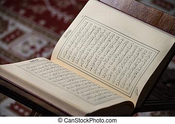 koran, książka, meczet, święty, muslims