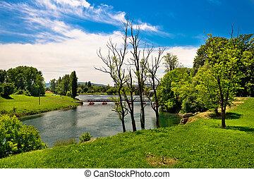 Korana river landscape in Karlovac