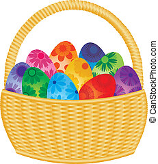 korb, eier, ostern, abbildung