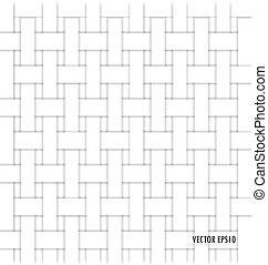 korbgeflecht, pattern), (seamless, hintergrund