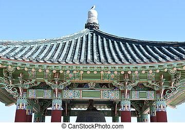 koreański, przyjaźń, dzwon, w, san pedro, kalifornia