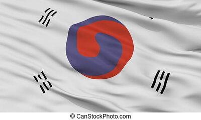 Korea 1882 1910 Flag Closeup Seamless Loop - Korea 1882 1910...