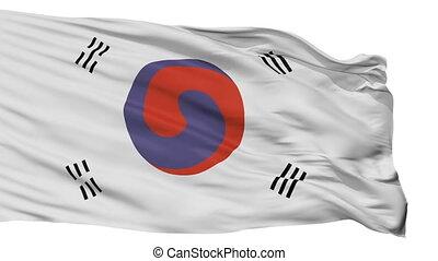 Korea 1882 1910 Flag Isolated Seamless Loop - Korea 1882...