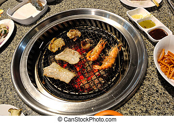 Korea BBQ Grill Food.
