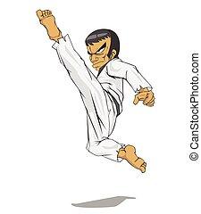 Korea taekwondo master. Martial art
