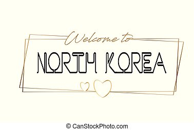 Korea Welcome to text Neon lettering typography. Word for logotype, badge, icon, postcard, logo, banner Vector Illustration.