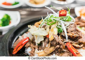 koreai, hagyományos, élelmiszer