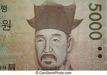 5000 won note - korean 5000 won note
