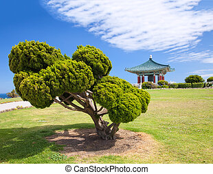 Korean Bell of Friendship pagoda and park