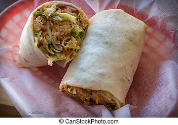 Korean Bibimbap Burrito - Korean fast food Bibimbap burrito...
