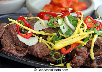 Korean bulgogi - Beef bulgogi traditional korean barbecued...