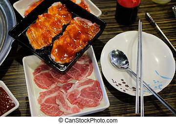 Korean cuisine barbecue grill meat