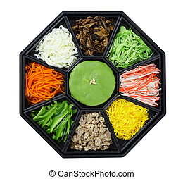Korean cuisine set. isolate on white background Clipping...