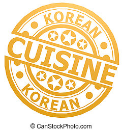Korean cuisine stamp