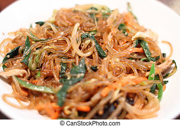 Korean dish known as Japchae