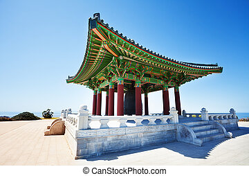 Korean Friendship Bell housed in grand belfry