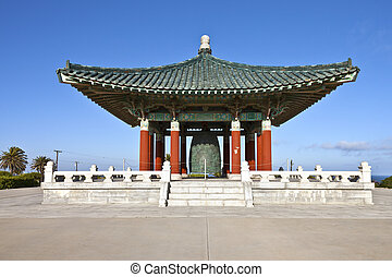 Korean friendship bell park San Pedro California.