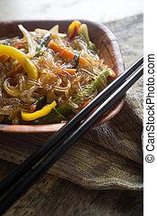 Korean Japchae Stir Fried Noodles