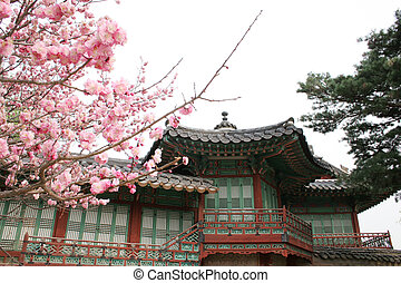 Biwon is a six-acre private garden at Changdeok Palace, Seoul, South Korea
