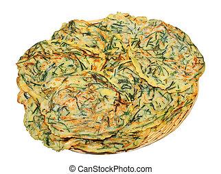 delicious looking korean vegetable pancake