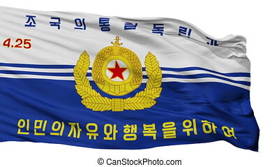 Korean Peoples Navy Flag Isolated Seamless Loop - Korean...
