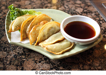 Korean style fried dumplings
