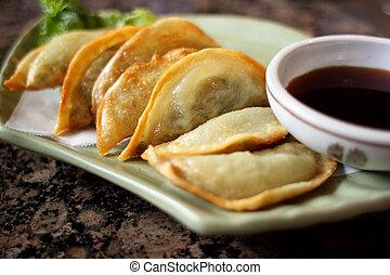 Korean style fried dumplings