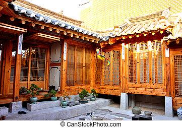 Korean traditional house - in Bukchon Hanok Village, Seoul,...