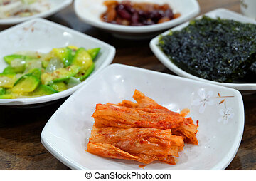 Korean traditional side dishes - Kimchi and other korean ...