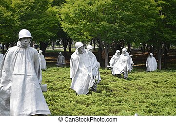 Korean War Memorial in Washington DC