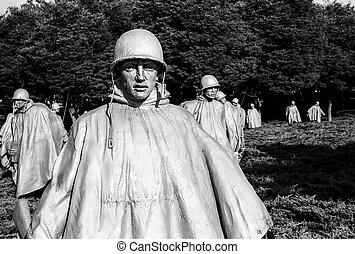Korean War Memorial Platoon - WASHINGTON DC, USA - JULY 17,...
