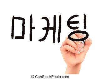 Korean words for Marketing