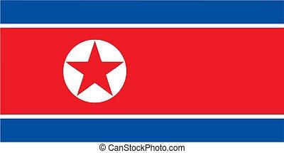 koreanisch, korea, nord, fahne