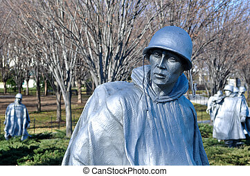 koreanska kriga åminnelse, in, washington washington dc