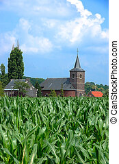 koren, field., kerk