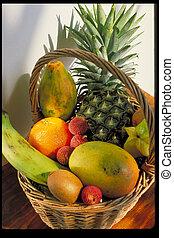 korg, av, frukter