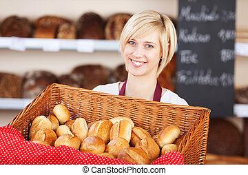 korg, cafe, servitris, bread
