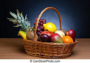 korg, frukt