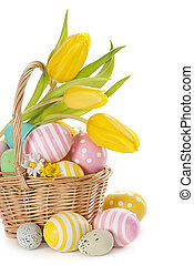 korg, med, påsk eggar