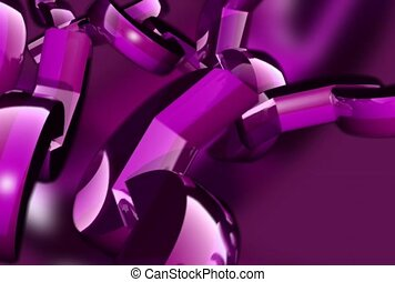 korkociąg, purpurowy, metaliczny