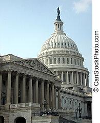 kormány, és, kongresszus székháza washingtonban