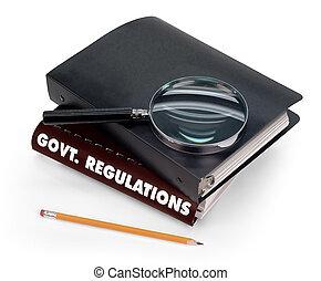 kormány, előírások
